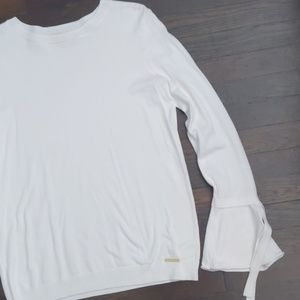 Michael Kors white long bell sleeve sweater